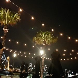 Our Festoon lighting in action