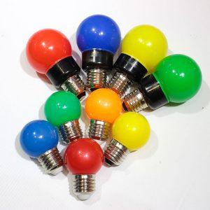 Colourful festoon bulbs